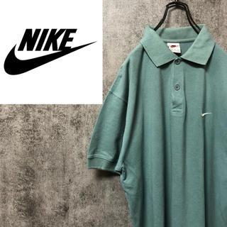 ナイキ(NIKE)の【激レア】ナイキ☆銀タグタグワンポイント刺繍ロゴリブ付きポロシャツ 90s(ポロシャツ)