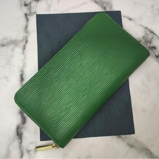 大人気!本革 高品質 長財布 ラウンドファスナー 緑グリーン(長財布)