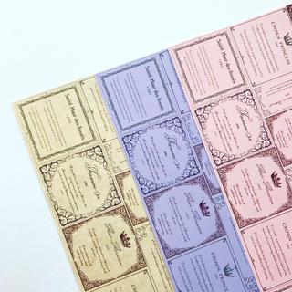 オリジナル デザインペーパー ワインラベル A4 3色セット(カード/レター/ラッピング)