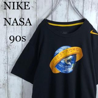 ナイキ(NIKE)の【激レア】 ナイキ 90s NASA 両面プリント Tシャツ L相当 黒 黄(Tシャツ/カットソー(半袖/袖なし))