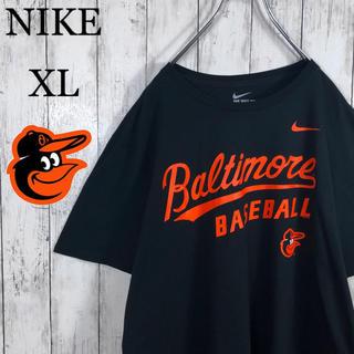 ナイキ(NIKE)の【美品】 ナイキ MLB オリオールズ デカロゴ Tシャツ XL 黒 ゆるだぼ(Tシャツ/カットソー(半袖/袖なし))