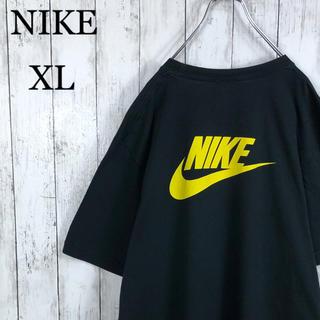 ナイキ(NIKE)の【激レア】 ナイキ デカロゴ 両面プリント Tシャツ XL 黒 ゆるだぼ(Tシャツ/カットソー(半袖/袖なし))