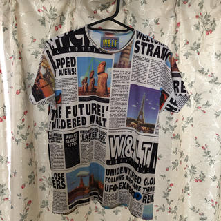 ウォルターヴァンベイレンドンク(Walter Van Beirendonck)の希少 最安W.&L.T. ウォルト ニュースペーパーTシャツ(Tシャツ/カットソー(半袖/袖なし))