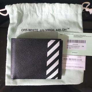 オフホワイト(OFF-WHITE)のOff-White ダイアグ バイフォールド ウォレット 新品未使用(折り財布)