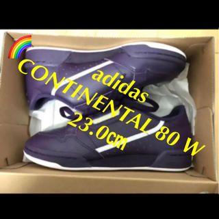 アディダス(adidas)の⭕️新品 レディース adidas CONTINENTAL 80 W 23.0㎝(スニーカー)