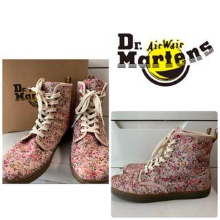 Dr.Martens - ドクターマーチン ピンクローズキャンバス ブーツ