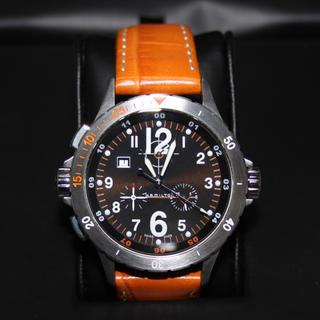 Hamilton - ハミルトン HAMILTON カーキ エア クロノ 左利き用 メンズ 腕時計