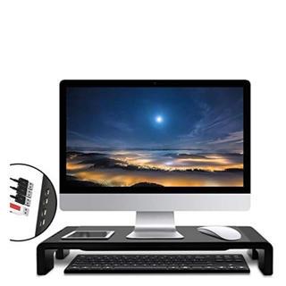 モニタースタンド 机上台 4*USB PCスタンド 可変タイプ パソコンスタンド