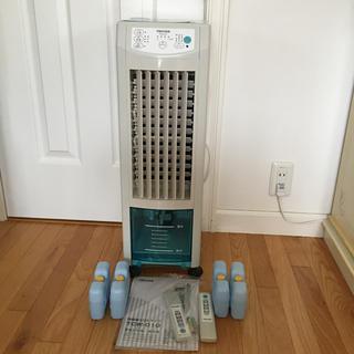 テクノス(TECHNOS)のTEKNOS TCW-010 冷風扇スリムタイプ⭐️タンク4つ⭐️リモコン2本(扇風機)
