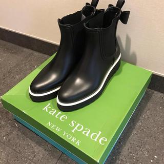 ケイトスペードニューヨーク(kate spade new york)のkate spade ケイトスペード レインブーツ リボン 厚底 長靴(レインブーツ/長靴)