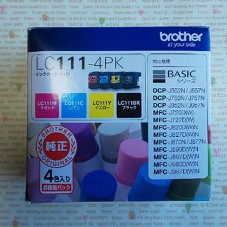 ブラザー(brother)のbrother ブラザー LC111-4PK インクカートリッジ 純正 (オフィス用品一般)