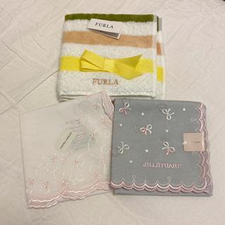 JILLSTUART - 【新品未使用】ブランドハンカチ3枚セット