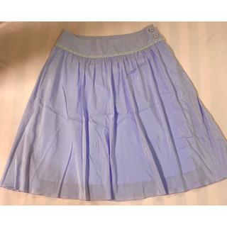 エフデ(ef-de)のエフデ スカート 紫 9サイズ(ひざ丈スカート)