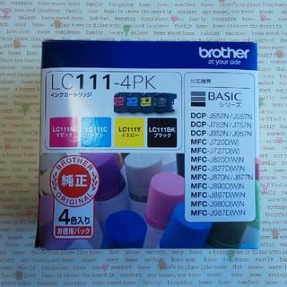 ブラザー(brother)のbrother ブラザー LC111-4PK インクカートリッジ 純正(オフィス用品一般)