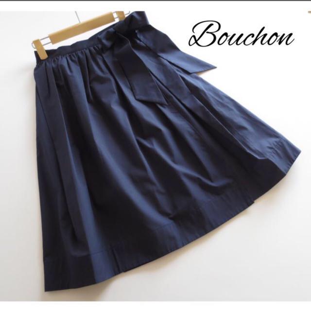 SCOT CLUB(スコットクラブ)のスコットクラブ■ブション■ウエストリボンラップスカート■コン レディースのスカート(ひざ丈スカート)の商品写真