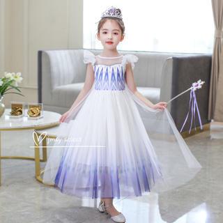アナと雪の女王 - 【新着】 エルサドレス アナ雪2  白 プリンセスドレス アナと雪女王2