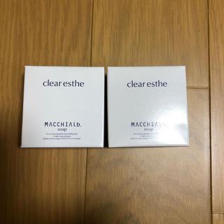 マキアレイベル(Macchia Label)のマキアレイベル クリアエステソープ 50g×2(洗顔料)