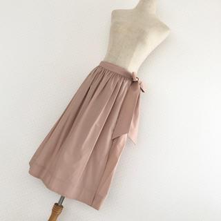 SCOT CLUB - スコットクラブ■ブション■ウエストリボンラップスカート■ピンク