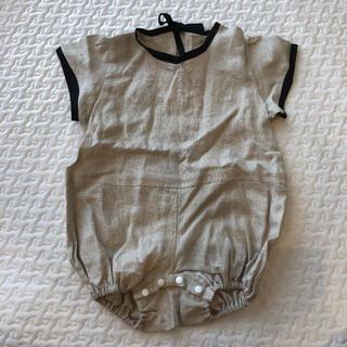 Caramel baby&child  - ロンパース パイピング ブラック リネン