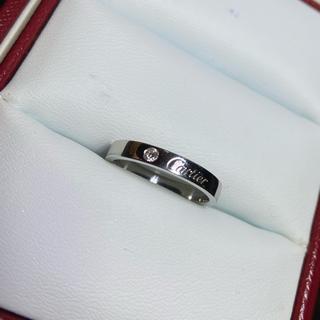 Cartier - カルティエ Cartier プラチナ 指輪 エングレーブド