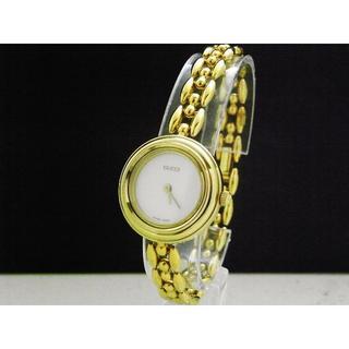 グッチ(Gucci)のGUCCI ブレスレットウォッチ ゴールド 白文字盤(腕時計)