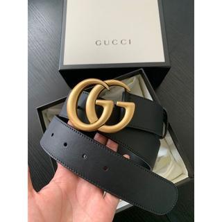 Gucci - グッチ ☆ 大人気 ダブルGバックル ☆ レザー ベルト 4cm幅