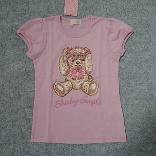 Shirley Temple - Shirley Temple 未使用 テディベアTシャツ 120 ピンク