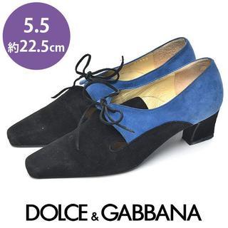 ドルチェアンドガッバーナ(DOLCE&GABBANA)のドルチェ&ガッバーナ オクスフォードパンプス 5.5(約22.5cm)(ハイヒール/パンプス)