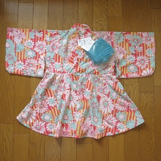 エムピーエス(MPS)のMPS ワンピース型浴衣(甚平/浴衣)