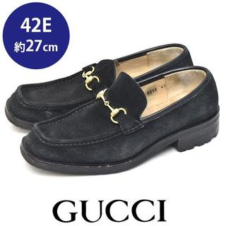 グッチ(Gucci)のグッチ ホースビット スウェード メンズ ローファー 42E(約27cm)(ドレス/ビジネス)