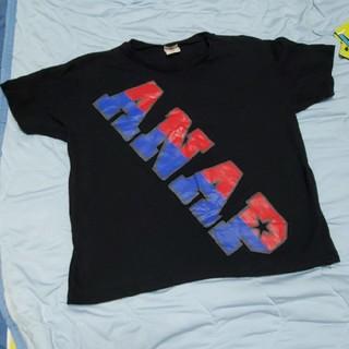 アナップキッズ(ANAP Kids)のアナップキッズ アナップ トップス 半袖 Tシャツ 黒 ロゴ(Tシャツ/カットソー)