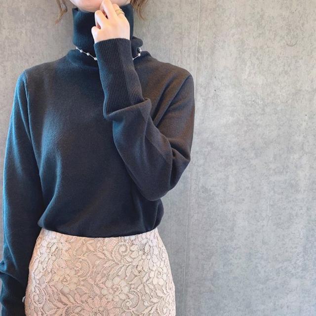 IENA SLOBE(イエナスローブ)のニュアンスレースタイトスカート レディースのスカート(ロングスカート)の商品写真