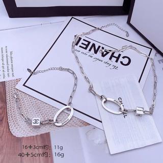 シャネル(CHANEL)のCHANEL純銀でネックレス2点セット(ネックレス)