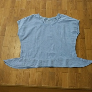 パーリッシィ(PAR ICI)のPAR   ICI ブルー綿100%ブラウス(シャツ/ブラウス(半袖/袖なし))