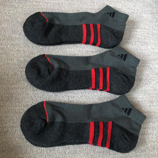 アディダス(adidas)のアディダス メンズ ソックス グレー 3足セット(ソックス)