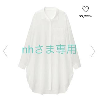 GU - GU シアーロングシャツ