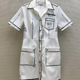 フェンディ(FENDI)の ❤大人気 ❤フェンデイ FENDI Tシャツ ワンピース半袖 春夏36(ひざ丈ワンピース)