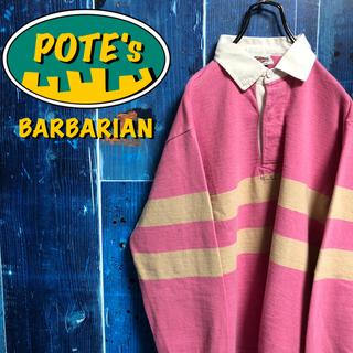 バーバリアン(Barbarian)の【バーバリアン】カナダ製ロゴタグ入りダブルラインラガーシャツ(ポロシャツ)