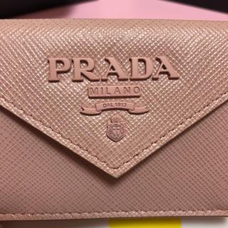 PRADA - プラダ PRADA ミニ財布 折り財布 ピンク サフィアーノ
