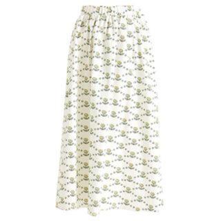 プニュズ(PUNYUS)のPUNYUS 花柄 ミモレスカート(ロングスカート)