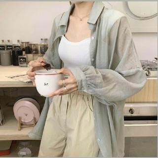 dholic - シアーシャツ 【3color・7size】 日焼け対策 冷房対策 UV