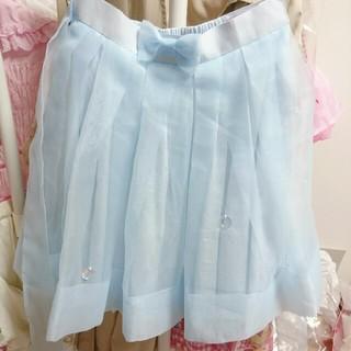 Angelic Pretty - アンジェリックプリティ ガラス人形 チュール スカート サックス