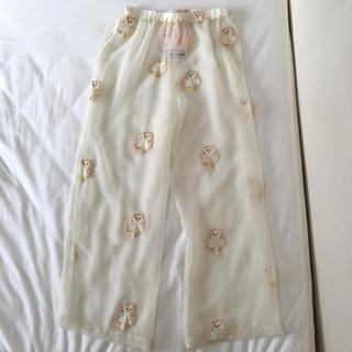 ミキオサカベ(MIKIO SAKABE)のミキオサカベ ねこ刺繍パンツ(その他)