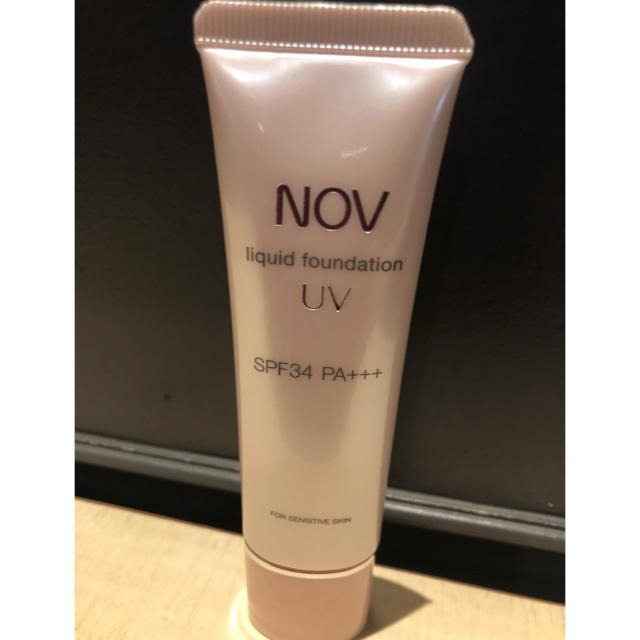NOV(ノブ)のNOV リキッドファンデーションUV ピンクオークル01 コスメ/美容のベースメイク/化粧品(ファンデーション)の商品写真