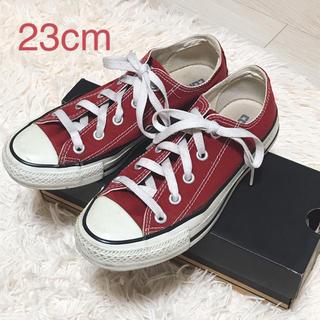 CONVERSE - コンバース 23cm US4 レッド 赤 ローカット ALL STAR