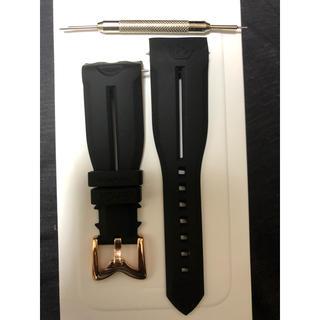 ガガミラノ(GaGa MILANO)のバネピン工具付き ガガミラノ 48MMラバーベルト黒色 金具金(その他)