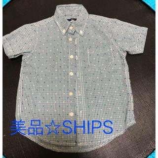 SHIPS - お値下げ☆美品です!SHIPS 素敵な刺繍入りチェック柄シャツ 110