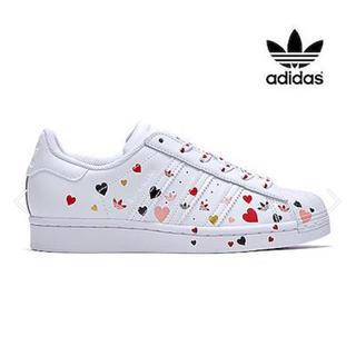 adidas - 新品 adidas スーパースター ハート 23.5