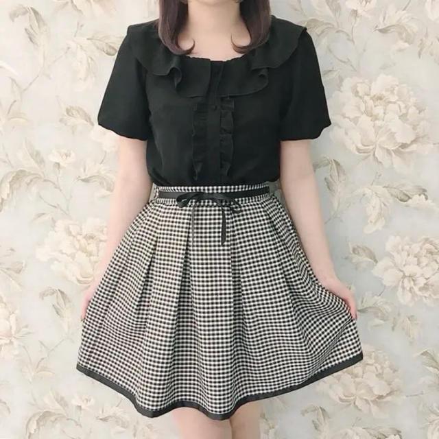 evelyn(エブリン)のevelyn ギンガムチェックスカート レディースのスカート(ミニスカート)の商品写真