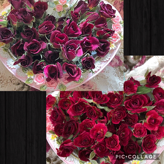 りゅっぴ様専用★ミニ薔薇(開花)20輪+おまけ5輪&濃いピンク20輪+おまけ2輪(ドライフラワー)
